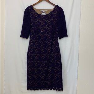 Dressbarn Collection purple lace dress size 14